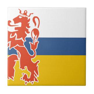 Bandera del holandés Limburgo Azulejo Cuadrado Pequeño