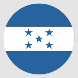Bandera del Honduran Pegatina Redonda