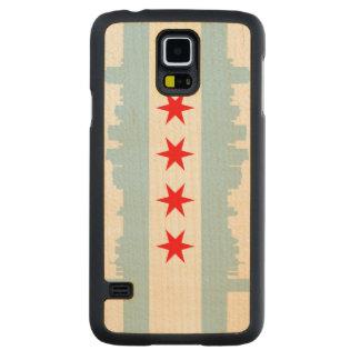 Bandera del horizonte de Chicago Funda De Galaxy S5 Slim Arce