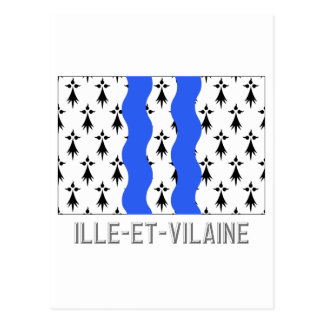 Bandera del Ille-et-Vilaine con nombre Postal