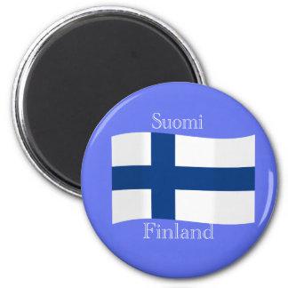 Bandera del imán de Finlandia