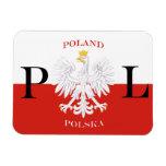 Bandera del imán superior de la flexión de Polonia