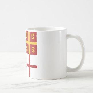Bandera del imperio bizantino taza de café