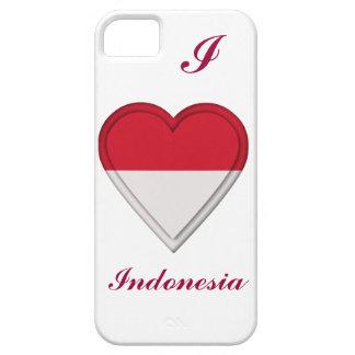 Bandera del indonesio de Indonesia Funda Para iPhone 5 Barely There