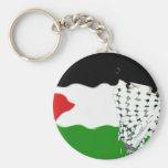 Bandera del Intifada de Palestina Llavero
