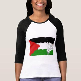 Bandera del Intifada de Palestina Camisetas