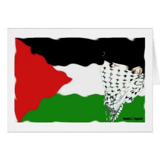 Bandera del Intifada de Palestina Tarjeta De Felicitación