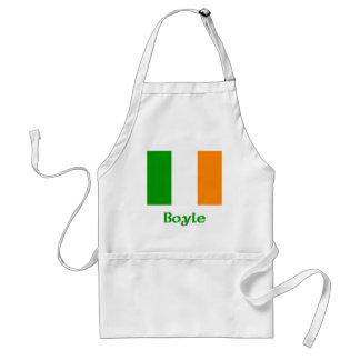 Bandera del irlandés de Boyle Delantal