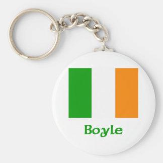 Bandera del irlandés de Boyle Llaveros