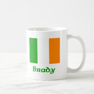 Bandera del irlandés de Brady Taza De Café