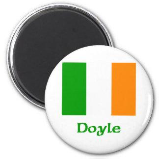 Bandera del irlandés de Doyle Imanes Para Frigoríficos