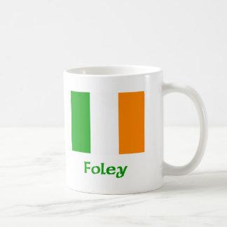 Bandera del irlandés de Foley Taza Clásica
