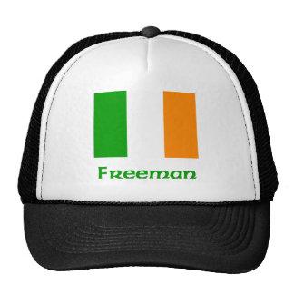 Bandera del irlandés de Freeman Gorras De Camionero