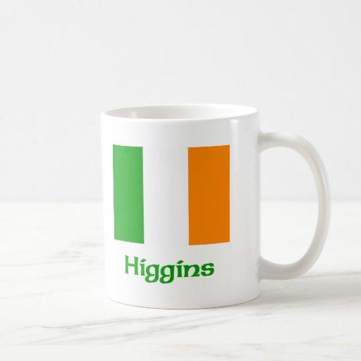 Bandera del irlandés de Higgins Taza