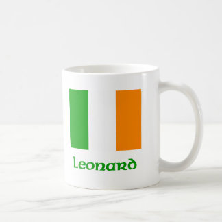 Bandera del irlandés de Leonard Taza