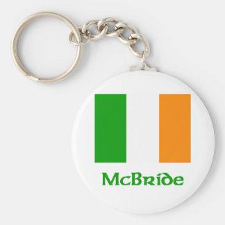 Bandera del irlandés de McBride Llavero Personalizado