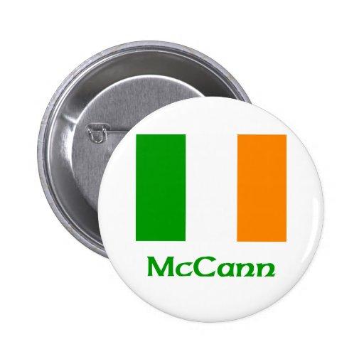 Bandera del irlandés de McCann Pin Redondo 5 Cm