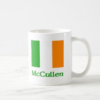Bandera del irlandés de McCullen Taza De Café