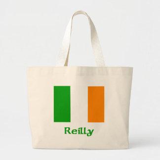 Bandera del irlandés de Reilly Bolsa Tela Grande