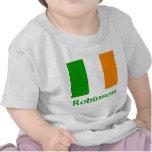 Bandera del irlandés de Robinson Camiseta