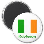 Bandera del irlandés de Robinson Imán Para Frigorífico