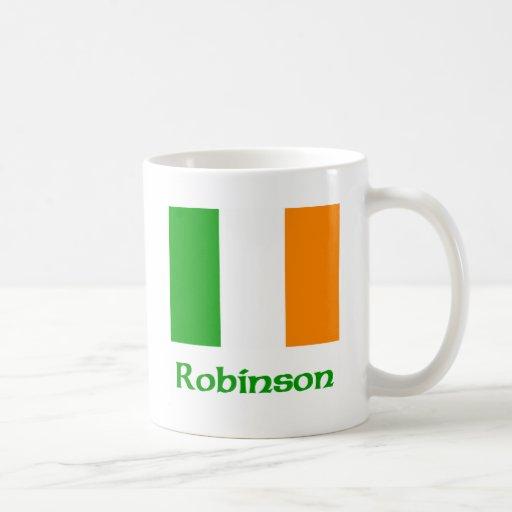Bandera del irlandés de Robinson Taza