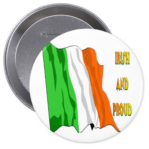 Bandera del irlandés del día de St Patrick Pin
