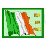 Bandera del irlandés del día de St Patrick Tarjeta De Felicitación