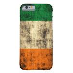 Bandera del irlandés del Grunge Funda De iPhone 6 Barely There