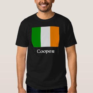 Bandera del irlandés del tonelero playeras