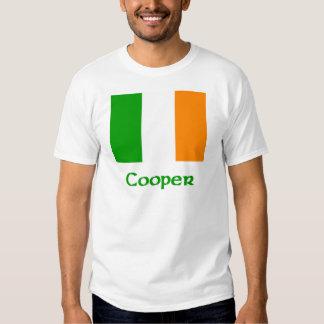 Bandera del irlandés del tonelero remeras