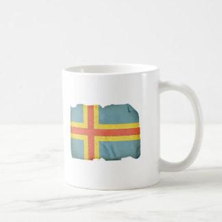 Bandera del isleño de Aland Taza De Café