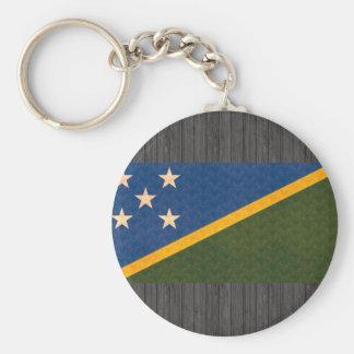 Bandera del isleño de Solomon del modelo del vinta Llaveros Personalizados