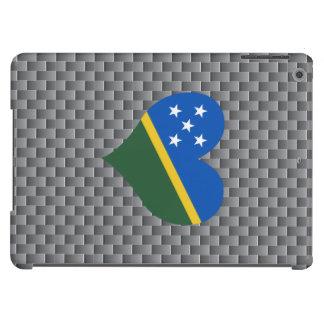 Bandera del isleño de Solomon en un fondo nublado Funda Para iPad Air