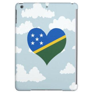 Bandera del isleño de Solomon en un fondo nublado