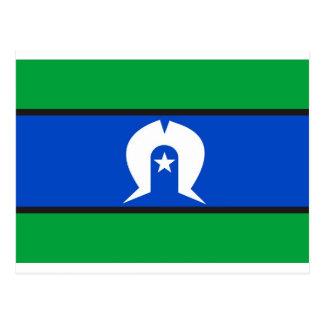 Bandera del isleño del estrecho de Torres Postal