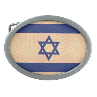 Bandera del israelí del modelo del vintage hebillas de cinturon