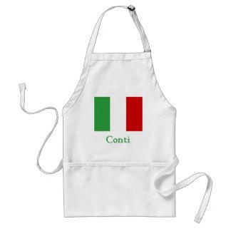 Bandera del italiano de Conti Delantales