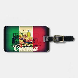 Bandera del italiano de Cucina Etiquetas Para Maletas