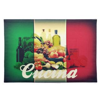 Bandera del italiano de Cucina Manteles Individuales