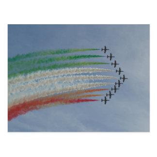 Bandera del italiano de Frecce Tricolori de la Postales