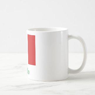 Bandera del italiano de Gallo Taza Clásica