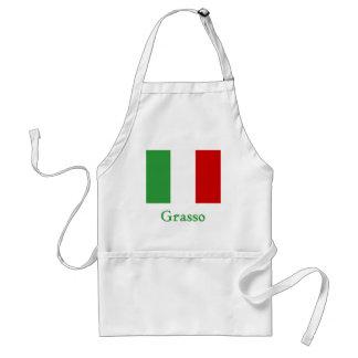 Bandera del italiano de Grasso Delantal