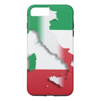 Bandera del italiano de Italia Funda iPhone 7 Plus