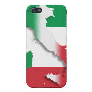 Bandera del italiano de Italia iPhone 5 Carcasa