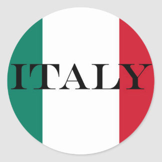 Bandera del italiano de Italia Pegatina Redonda
