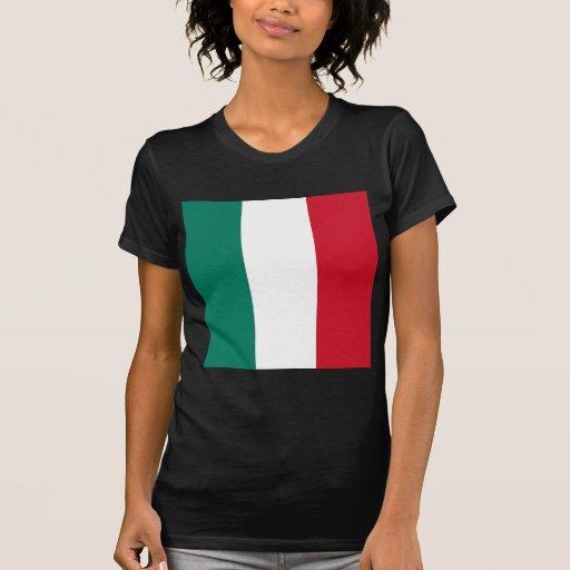 Bandera del italiano de Italia Tee Shirts