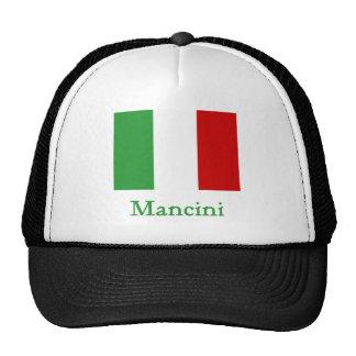 Bandera del italiano de Mancini Gorra