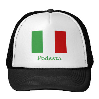 Bandera del italiano de Podesta Gorras