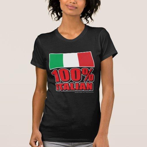 Bandera del italiano del 100% playeras